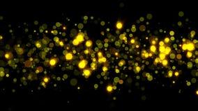 Abstrakte funkelnde Partikel Hintergrund der Wiedergabe 3d Gold Lizenzfreies Stockfoto