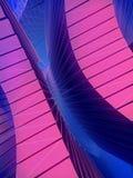 Abstrakte futuristische Plastikwiedergabe der form 3d Stockfotografie