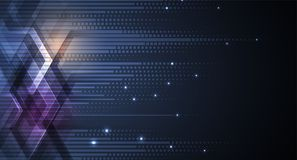 Abstrakte futuristische verblassen Computertechnologie-Geschäftshintergrund stock abbildung