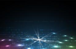 Abstrakte futuristische verblassen Computertechnologie-Geschäftshintergrund lizenzfreie abbildung