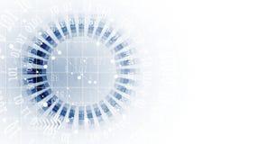 Abstrakte futuristische verblassen Computertechnologie-Geschäftshintergrund Lizenzfreie Stockfotos