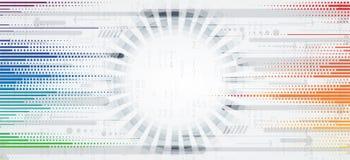 Abstrakte futuristische verblassen Computertechnologie-Geschäftshintergrund Stockbilder