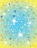 Abstrakte Galaxie mit Sternen Stockbild