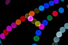Abstrakte gebogene Lichter mit Bokeh-Effekt stockfoto