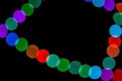 Abstrakte gebogene Lichter mit Bokeh-Effekt lizenzfreie stockfotografie