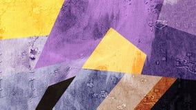 Abstrakte gelbe blaue purpurrote Farbmustertapete Lizenzfreies Stockbild