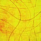 Abstrakte gelbe Hintergrundweinlese Lizenzfreies Stockfoto