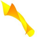 Abstrakte gelbe Rolle Stockfoto