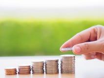 Abstrakte Geldeinsparung Lizenzfreies Stockfoto