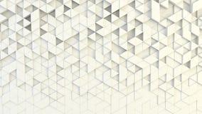 Abstrakte geometrische Beschaffenheit von nach dem Zufall verdrängten Dreiecken stockfoto
