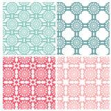 Abstrakte geometrische Blumenmuster vektor abbildung