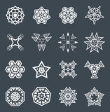 Abstrakte geometrische Elemente, kopieren ethnischen Azteken oder Maya Vector Lizenzfreie Stockfotografie