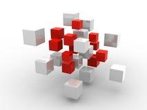 Abstrakte geometrische Formen von den Würfeln Lizenzfreies Stockbild