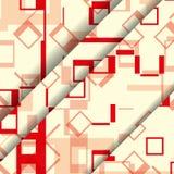 Abstrakte geometrische Formillustration Stockfotografie
