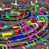 Abstrakte geometrische Galaxie Lizenzfreie Stockfotos