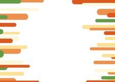 Abstrakte geometrische gerundete Streifen kopieren das orange beige und hellgrüne Gelb Lizenzfreie Stockfotografie
