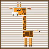 Abstrakte geometrische Giraffe Lizenzfreie Stockfotos