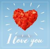 Abstrakte geometrische Herzillustration für Valentinsgruß Lizenzfreies Stockfoto