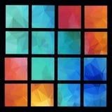 Abstrakte geometrische Hintergründe Lizenzfreies Stockfoto