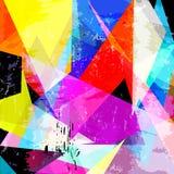 Abstrakte geometrische Hintergrundzusammensetzung, mit Dreiecken, Farbe Stockfotografie