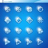 Abstrakte geometrische Ikonen. Vektorzeichenschablone s