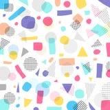 Abstrakte geometrische moderne Pastellfarbe, Muster der schwarzen Flecke mit Stockfoto