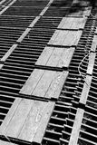 Abstrakte geometrische Muster des hölzernen Gitters Lizenzfreie Stockbilder