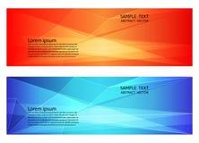 Abstrakte geometrische rote und blaue Farbe, moderner Hintergrund mit Kopienraum, Vektorillustration für Ihre Geschäftsfahne vektor abbildung