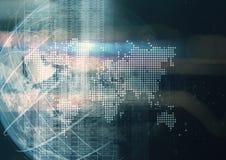 Abstrakte geometrische Technologiegraphikelemente Stockfotos