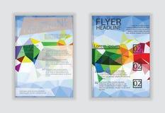 Abstrakte geometrische Wellenbroschürenflieger-Designschablonen in A4 Lizenzfreie Stockbilder