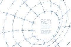 Abstrakte geometrische Wireframe-Form Rohr Muster des quadratischen Kastens, blaue Illustration des Internet-Technologiekonzeptde Lizenzfreies Stockfoto