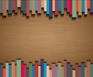 Abstrakte Geraden mit Hintergrund des braunen Papiers Stock Abbildung