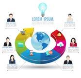 Abstrakte Geschäft infographics Wahlschablone Lizenzfreie Stockfotos