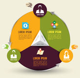 Abstrakte Geschäft infographics Wahlschablone Lizenzfreies Stockfoto