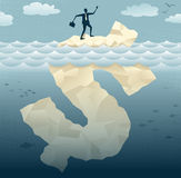 Abstrakte Geschäftsmänner finden den Tipp des Dollars IC Lizenzfreies Stockbild