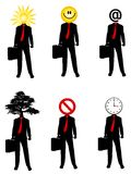 Abstrakte Geschäftsmann-Konzepte lizenzfreie abbildung