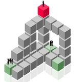 Abstrakte geschehengruppe, Teamarbeit, Abnehmergeschäft Stockbilder