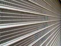 Abstrakte gewölbte Stahlbeschaffenheit Stockfotos