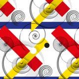 Abstrakte gezeichnetes nahtloses Muster des Vektors Hand Lizenzfreie Stockfotos