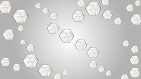 Abstrakte gl?nzende Diamanten in Gray Background vektor abbildung