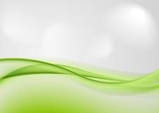 Abstrakte glänzende grüne Wellen Lizenzfreie Stockfotos