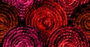 Abstrakte glänzende Rotskalen Hand gezeichnetes nahtloses Muster Lizenzfreies Stockbild