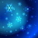Abstrakte glänzende Schneeflocken Stockbild