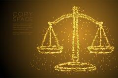 Abstrakte glänzende Sternchen-Vereinbarung stuft Balancenform, Urteilkonzeptdesign-Goldfarbillustration ein vektor abbildung
