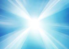 Abstrakte glühende blaue Linien in der Perspektive Lizenzfreies Stockfoto
