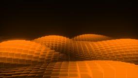 Abstrakte Glühenwellen stock footage