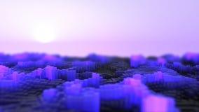 Abstrakte Glühenwellen stock video footage