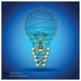 Abstrakte Glühlampen-geometrischer Hintergrund Lizenzfreies Stockbild