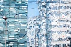 Abstrakte Glasfassade Stockbild