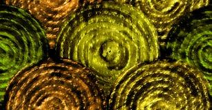 Abstrakte goldene Skalen Hand gezeichnetes nahtloses Muster Stockbild